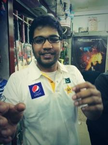 Wearing Team Pakistan's official test-match jersey!